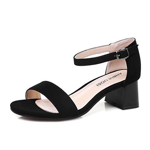 Mit Heel Und Komfort Schuhe 6cm High Schnalle Damen Legerer Offen