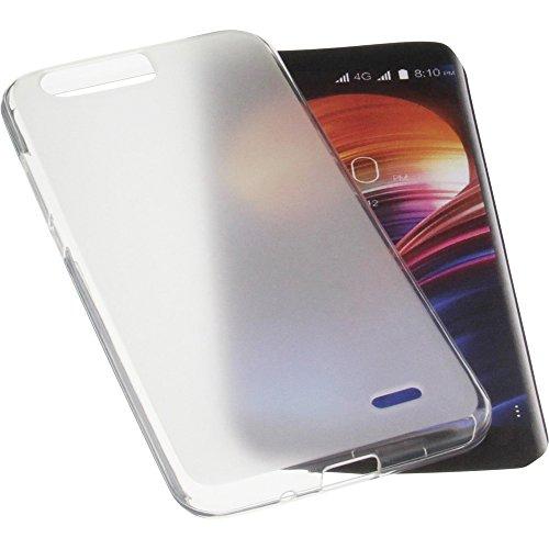 foto-kontor Tasche für Blackview P6000 Gummi TPU Schutz Handytasche transparent weiß