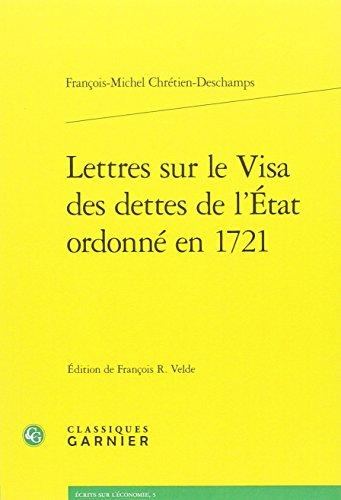 Lettres sur le visa des dettes de l'...