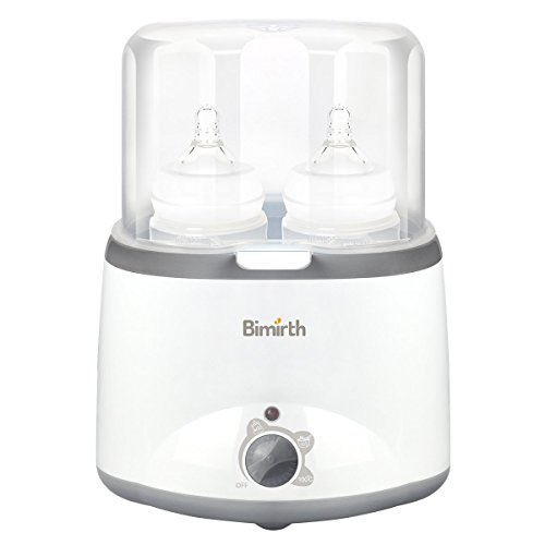 Baby Bottle Warmer Flaschenwärmer/Flaschen Sterilisator, VANSENG Bimirth Schnelle Transitwärme und präzise Temperaturregelung, Doppelflaschen Design