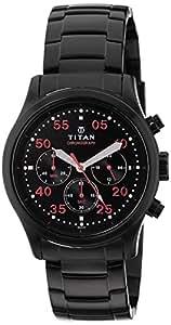 Titan Octane Chronograph Black Dial Men's Watch - 1634NM02