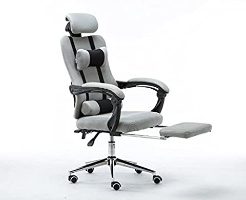 Emall Life High Back Ergonomic Mesh Swivel Chair with Footrest