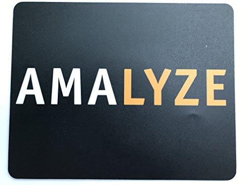 Preisvergleich Produktbild AMALYZE Mauspad - Gaming und Office 24 x 19 cm - 1 Stück - Mousepad Schwarz-Weiß-Orange