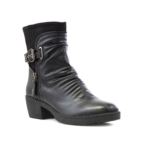 Cushion Walk Rouched Ankle Boot in Black - Size 5 UK -...