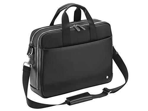 Businesstasche, Herren, Leder, schwarz, Laptoptasche, Mercedes-Benz