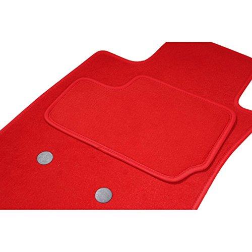 Fußmatten eTile passgenau für Megane 3CC Coupe Cabrio (11/08-ce Tag)–1Premiumqualität–rot–Teppich Tuft, L Aspekt Velours, 550g/m2+ SS Schicht 1950G/M2+ Band Textil High-End (Teppich 1702)
