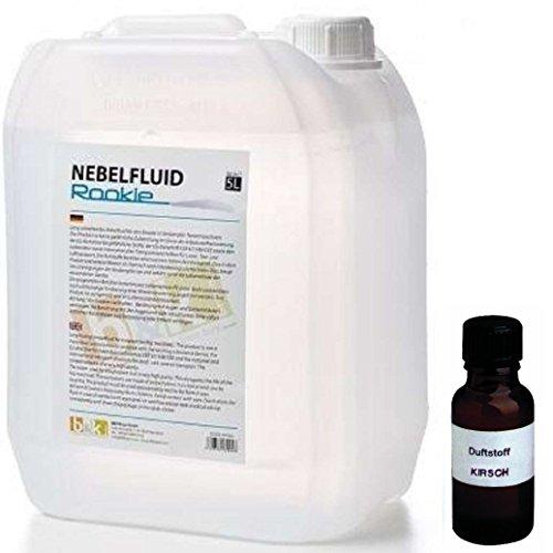 (5 Liter DJPower Nebelfluid ROOKIE + 30 ml Duftstoff Kirsche, Smoke-Fluid, Nebel-Fluid-Flüssigkeit für Nebelmaschine)