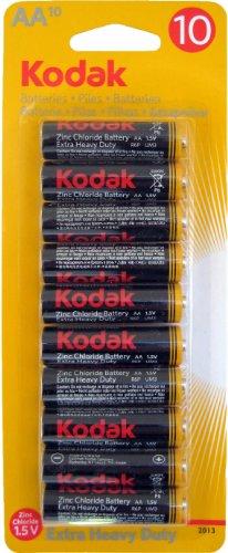 Kodak Pile AA-Pack de 10-Chlorure de zinco 1,5V