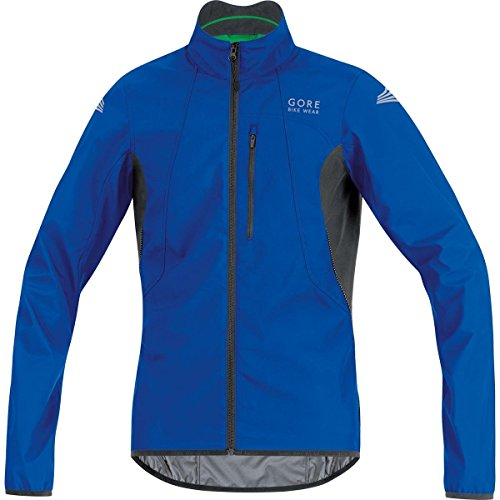 GORE BIKE WEAR Chaqueta para ciclismo, Hombre, Súper Ligera, GORE WINDSTOPPER, Talla S, azul eléctrico/negro, JELECO609903