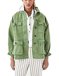 it Amazon Giacca Militare Donna Verde Abbigliamento Stile fP0PxFn