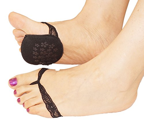 Ladies foot pads fashion lace insole cushions forefoot support for high heel...