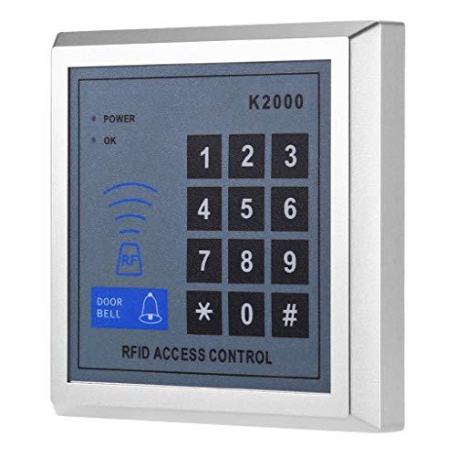 P Prettyia Digital Keyless Elektronisches Türschloss Zutrittskontrolle mit Kombination/Karte für Haus/Büro/Bad/Schule, 3 Entry (500 Benutzer) (Türschlösser Kombination)
