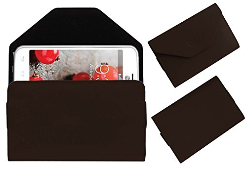 Acm Premium Pouch Case For Lg Optimus L4 Ii Dual E445 Flip Flap Cover Holder Brown  available at amazon for Rs.179