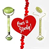 Ms America Jade: America'S Best 2In1 Jade Facial Roller & Gua Sha Scraping Tool   Stainless Steel Frame Real Jade Face Massager   More User Friendly Than Derma Roller