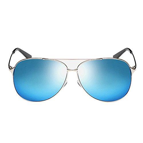 Herren Sonnenbrille Aviator Polarisiertes - UV 400 Schutz Metall Rahmen für Outdoor Fahren (Aviator Sonnenbrillen, 53mm)
