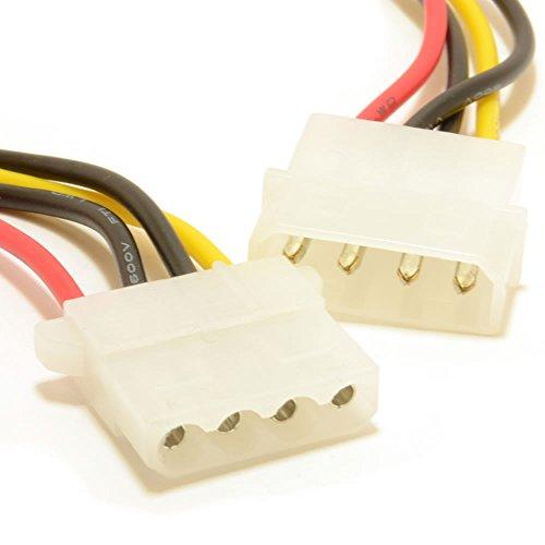 Strom Verlängerung Kabel 4 Polig LP4 Molex Männlich Zum Weiblich 50 cm