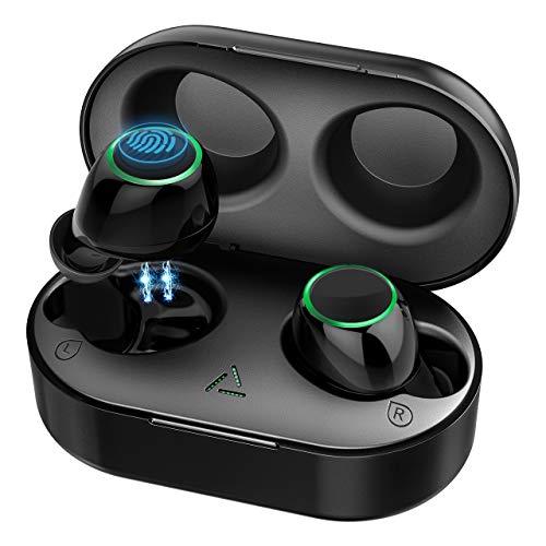 Mpow Bluetooth Kopfhörer in Ear Sport Kabellos Ohrhörer Headset Wireless Earbuds Touch-Control/ IPX6 Wasserdicht/ 2 Modi/BT 5.0/21 Std Spielzeit mit Ladebox, Mikrofon für iPhone Samsung Huawei