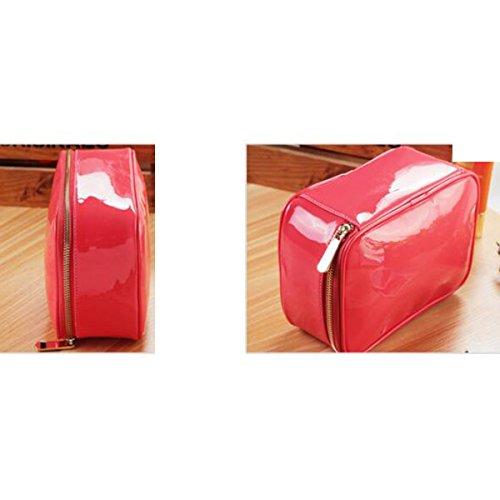 Reise Multifunktion Waschbeutel Großraum Wasserdicht Kosmetiktasche Red