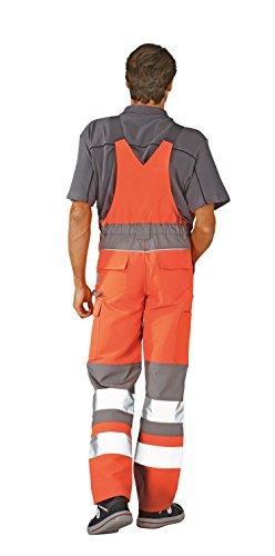 Planam Warnschutz Latzhose 'Plaline', 1 Stück, 56, Orange / Zink, 5620056