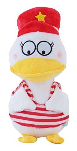 Good Night Beau jouet bourré de peluche de canard de marine de bande dessinée, Playmate pour des enfants
