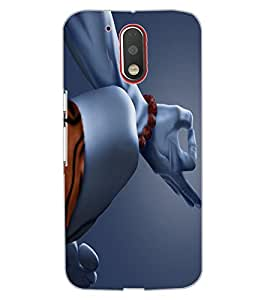 ColourCraft Lord Shiva Design Back Case Cover for MOTOROLA MOTO G4 PLUS