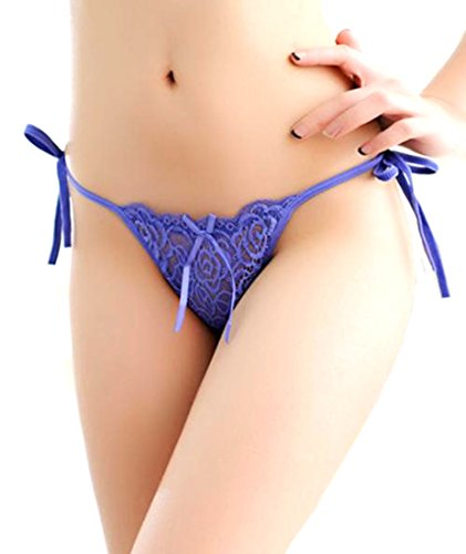 Happiness Entrance Damen Dessous-Set, blau (Nylon-high-cut-white Panty)