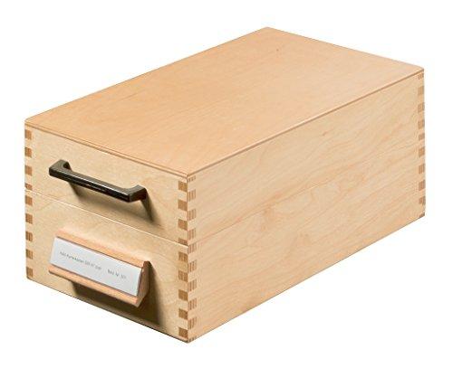 HAN Karteikasten 507, DIN A7 quer aus Holz / Hochwertige Lernkarteibox aus edlem & robustem Naturholz für 900 DIN A7 Karteikarten / Ideal zum Vokabeln lernen & als Lehrmaterial