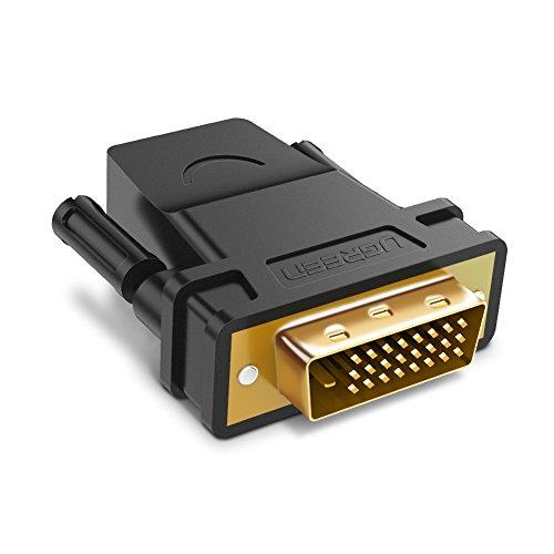 UGREEN DVI su HDMI Adattatore da HDMI Femmina a DVI-D 24+1 Maschio Full HD 1080P per HDTV, Plasma, DVD e Proiettore