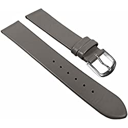 Eulit Replacement Band Watch Band Leather Strap Dolly gray 22682S, width:10mm