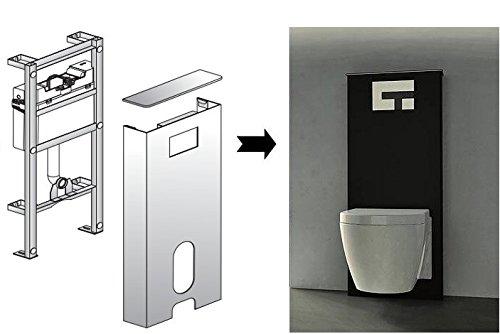 Sanit Sanitärmodul Ineo Solo Wand-WC schwarz Vorwandelement Montageelement