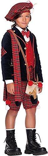 3 Kostüm Stück Abgeschnitten - Italienische Herstellung Deluxe 7 Stück Baby Kleinkind Jungen Schottisch Dudelsack Spieler Karneval Rund um die Welttag des buches-tage-woche Halloween Kostüm Kleid Outfit 0-3 Jahre - Rot, 6 years