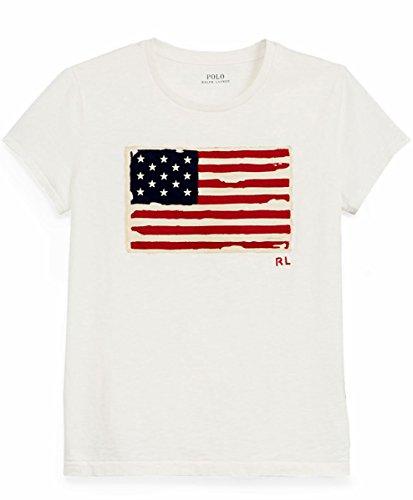 Polo Ralph Lauren Maglietta in Jersey Con Grafica Donna Mod. 211663124 S