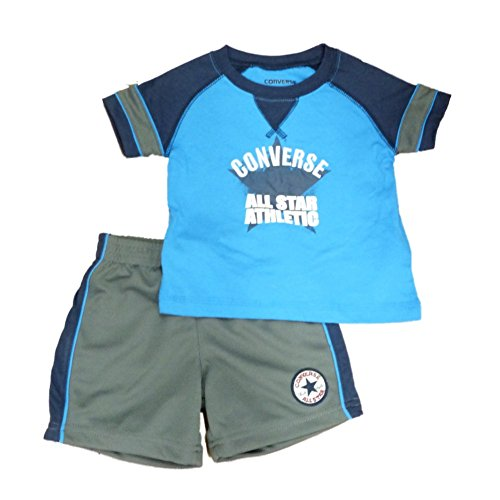 Baby & Kleinkind Jungen 2 St¨¹ck Blau T-Shirt & Athletic Mesh Shorts Set (Für Kleinkinder Shirts Converse)