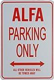 ALFA Solo parcheggio - parcheggio segni in miniatura regalo ideale per gli appassionati di automobilismo