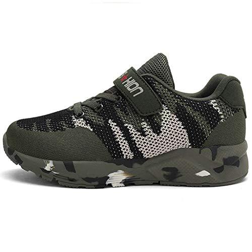 Kleinkind Camouflage Sneakers TTLOVE Kinder Schuhe Sportschuhe Mesh Atmungsaktiv Laufschuhe Outdoor Sport Sneaker Turnschuhe Wanderschuhe für Jungen Herren Kinder 27-42(Tarnen,37 EU)
