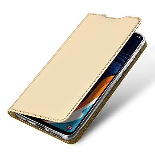 Brand Set Funda Xiaomi Mi 8 Pro,Funda de Cuero con Tapa Plegable,Material de PU con función de Soporte Hebilla magnética Invisible Funda Ultrafina para teléfono móvil para Xiaomi Mi 8 Pro-Oro