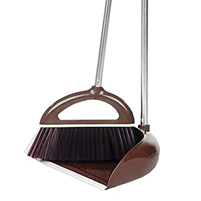 Alien Storehouse Durable Removable Broom und Dustpan Standing Upright Griffe Sweep Set mit Langem Griff, A3