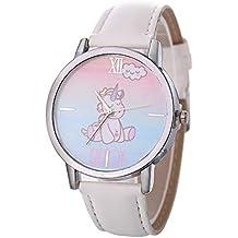 Gysad Reloj de Pulsera Patrón de Unicornio Reloj de Pulsera niña Interesante y Lindo Reloj de