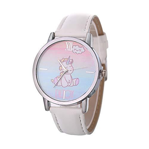 Gysad Reloj de Pulsera Patrón de Unicornio Reloj de Pulsera niña Interesante y Lindo Reloj de Pulsera Infantil Ajustable Reloj de Pulsera Infantil