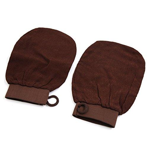 TOOGOO 2pcs Bain Douche Sauna Soins de Morte Dure Peau Exfoliant Massage exfoliant Gant Dos Scrubber Gant