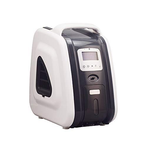 HUKOER Gray Sauerstoffkonzentrator für Haushalt 1-6 L/min Einstellbarer Sauerstoffkonzentrator-Generator 93% ± 3% Hochreiner, tragbarer Luftreiniger Sauerstoffkonzentrator für Haushalt