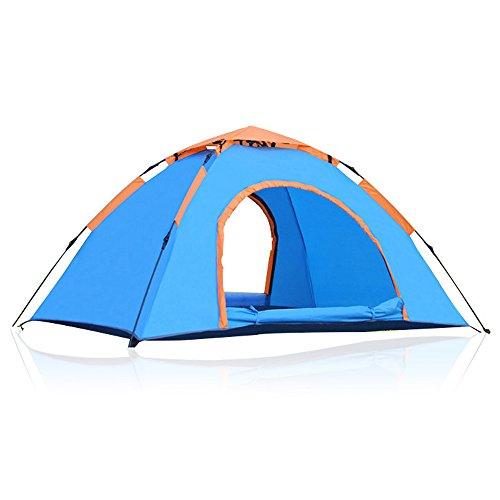 Sogar Camping 1-2 persona singola tenda automatica di campeggio esterna della tenda impermeabile, blu - Protezione Senza Nodi Rete