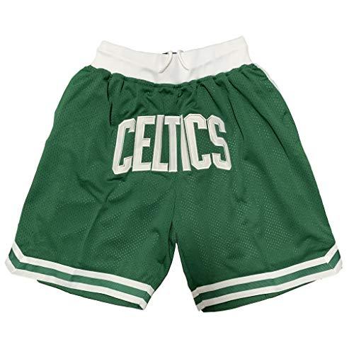 HWHS316 Boston Celtics Basketball Uniformen Sport Shorts Wettbewerb Team Uniform Training Ball Anzug Bequeme Freizeitshorts Leicht zu trocknen,M175~180CM/70~80kg -