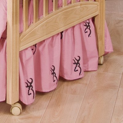 Browning Buckmark Pink Crib Bedskirt by Browning Bedding