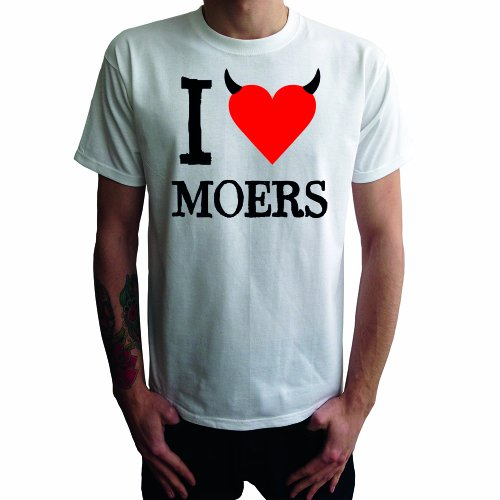 I don't love Moers Herren T-Shirt Weiß