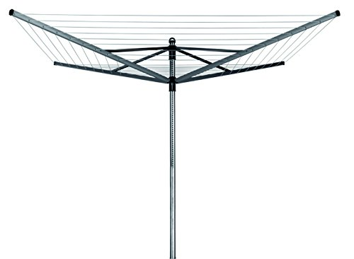 Brabantia Lift-O-Matic Tendedero de Jardín con Soporte y Funda, Acero Inoxidable, Gris...