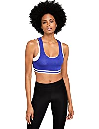 Iris & Lilly Women's Sporty Cotton Crop Top
