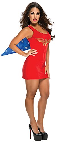 Adult Wonder Woman Rhinestone Logo Tank Dress - S to L
