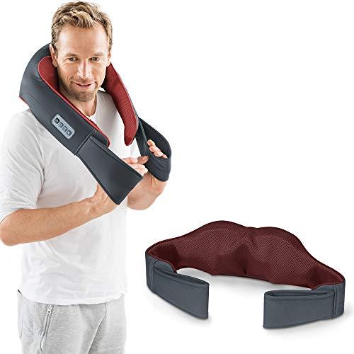 Beurer MG 151 Shiatsu-Nacken-Massagegerät / Massage für Schultern, Nacken und Rücken / Nackenmassage mit Wärme / 8 3D Massageköpfe / 3 Intensitätsstufen / mit Richtungswechsel