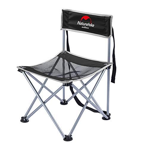 VIWIV Tragbarer Klappstuhl Für Skizzieren Im Freien Picknicks BBQ Camping Angeln Strandkorb, Kann 150 Kg Tragen,Black